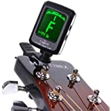 Andoer LCD Clip-on Electronic Digital Guitar Chromatic Bass Violin Ukulele Tuner