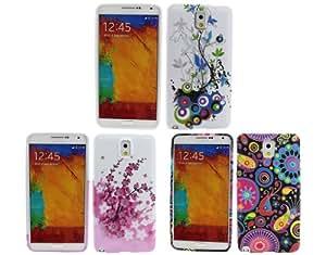 BONAMART ® 3 Elegante Patrón Carcasa Caso Funda Soft TPU Silicona Case Cover Para Samsung Galaxy Note 3 III N9000