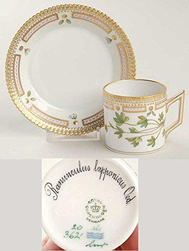 ロイヤルコペンハーゲン フローラダニカ(1961-) デミダスカップ&ソーサーセット Ranunculus Lapponicus [並行輸入品] B00M0GABUQ