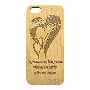 """Wood Engraved, Phone Case """"For you see, each day I..."""" for iPhone 5c (Maple) by gostart by paywork"""