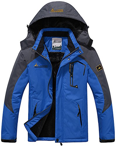 Blu Campeggio Da Cappuccio Windbreaker Impermeabile Coat Sci Caccia Rain Working Con Giacche Vello Mountain Outdoor Zaffiro Jacket Mochoose Sportwear Uomo Neve Pesca PwZqB1tSy