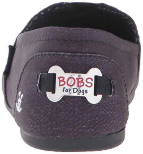 A partir de bobs bobs Skechers para los perros de la felpa Resbalón-en Flat Boston Black