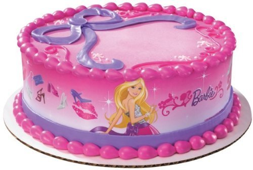 Barbie Doll Edible Cake Border Decoration