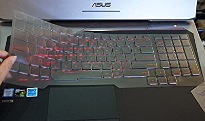 Ultra Thin TPU Clear Transparent Non-toxic Keyboard Protector Skin Cover for ASUS ROG G752VL G752VY G752VT 17-Inch Gaming Laptop US Version (NOT Fit G751)