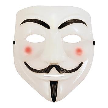 AKORD Máscara 990222 de Anonymous Guy Fawkes de la película V de Vendetta para Halloween,