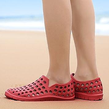 CWJDTXD Zapatillas de verano Zapatos de taco blanco para hombre, sandalias y zapatillas Baotou transpirables