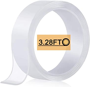 1-5M Clear Double-side Adhesive Tape Washable Traceless Nano Invisible Gel-RO