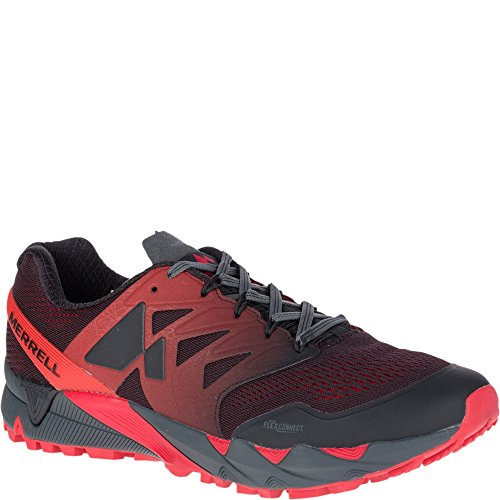 Merrell Agility Peak Flex E-Mesh Mens Shoes Trail Running Trainers New, Black J12503
