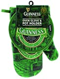 Guinness Green Collection Oven Glove and Pot Holder - Cotton Kitchen Oven Mitt and Hot Pad
