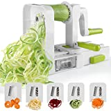 Spiralizer 5-Blade Vegetable Spiralizer,Sedhoom Foldable Spiral Slicer,Zucchini Noodle & Veggie Pasta & Spaghetti Maker for Low Carb/Paleo/Gluten-Free Meals
