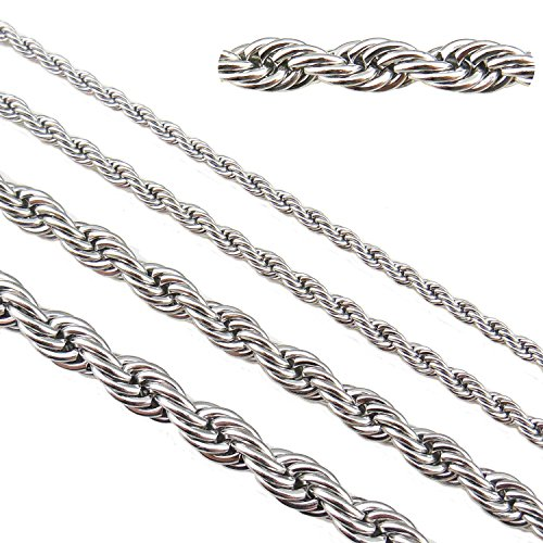 (33ft Stainless Steel Rope Chains Findings Fit for Jewelry Making &DIY (SC-1021-B) )