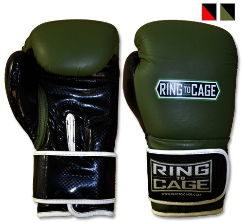 Gym Training Stand-Up Boxing Gloves (Marine Green/Black, Large weighs 16oz)