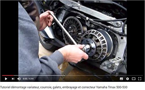 Easyboost Llaves Bloqueo Variador Embrague Polea Yamaha TMAX 500-530 Herramientas imprescindibles para Desmontar Cambiar los Rodillos Correa Muelles ...