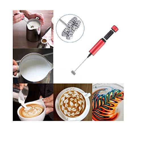 Saying Handheld Milking Machine, Double-Layer Whisk Cream Milk Shake Mixing Stiring Tools, Fashion Hot Drinks Milk Frother Foamer Whisk Mixer Stirrer Egg Beater