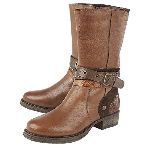 Lotus Huambo Womens Calf Length Boots Tan hv17s