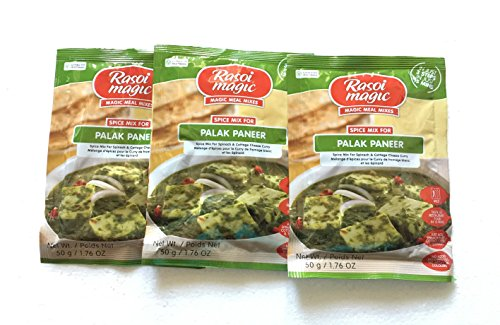 Rasoi Magic Spice Mix for Palak Paneer - Spice Mix for Spinach & Cottage Cheese Curry - 50 g. (Pack of 3)