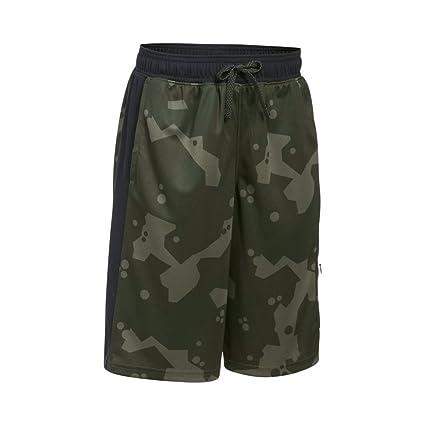 7ab8906f3f Under Armour Boys' Courtside cargo Shorts, Downtown Green Mediu (330)/Black