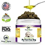 #1 Calming Treats for Dogs Anxiety, Stress Relief from Separation Anxiety, Natural Calming Aid for Motion Sickness, Storms with Organic Hemp Oil, L-Tryptophan & Organic Chamomile |120 Soft Chews USA.