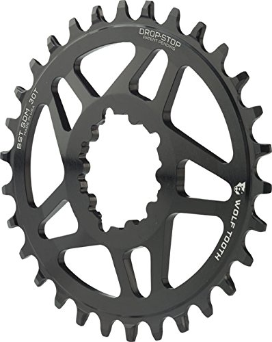 Wolf Tooth Components Elliptical Drop-Stop Chainring: 30T...