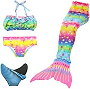 loenzo otiz beautiful Girl Mermaid bikini and fins set 4PC