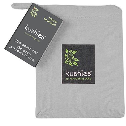 Kushies Baby Organic Jersey Bassinet Fitted Sheet, Grey ...