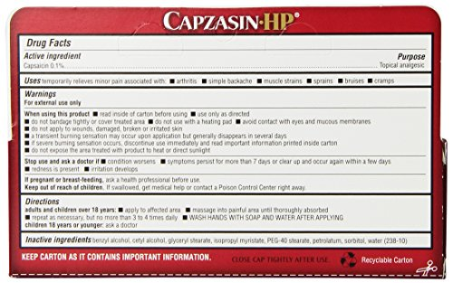 Capzasin Hp Arthritis Relief Topical Analgesic Cream 1 5