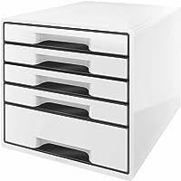 Leitz Cube - Cajonera (5 cajones), color blanco