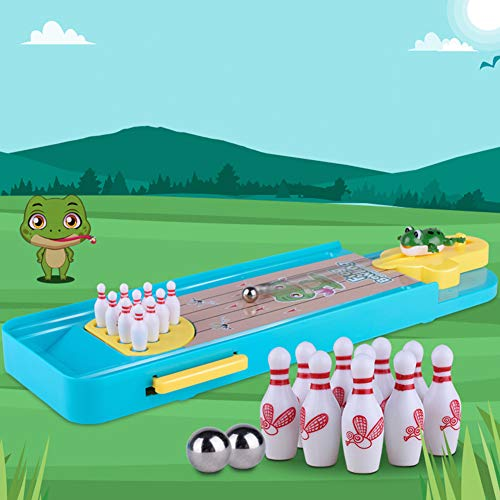 LeSharp Outdoor Toys, Funny Mini Wooden Desktop Bowling Board Pin Ball Games Kids Children Indoor Toys ()