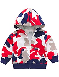 TM Infant Baby Girls Boys Camouflage Print Sweatshirt Cotton Hooded Casual Clothes With Pocket