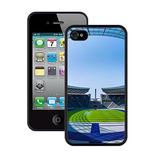 Fußballstadion   Handgefertigt   iPhone 4 4s   Schwarze Hülle
