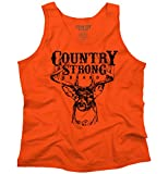 Brisco Brands Original Country Strong Brand Deer Hunting Western Gift Ideas Tank Top Shirt