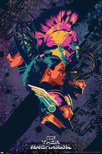 Thor: Ragnarok - Thor, Hulk, Valkyrie, Loki, Hela Poster 24