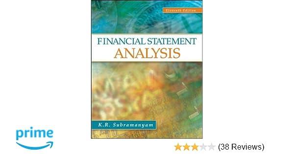 Financial Statement Analysis K R Subramanyam Associate