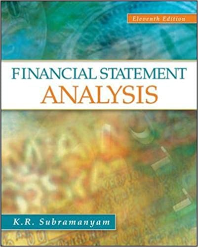 Financial Statement Analysis K R Subramanyam Associate