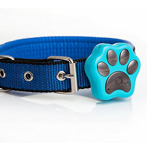 Enshey Mini Waterproof Pet Tracking Collar Cat Locator Cat Finder Tracker System Spy Mini GPS Tracking Finder Device Leds Flash Collar Anti-Lost Tracker Wifi Safety Alarm