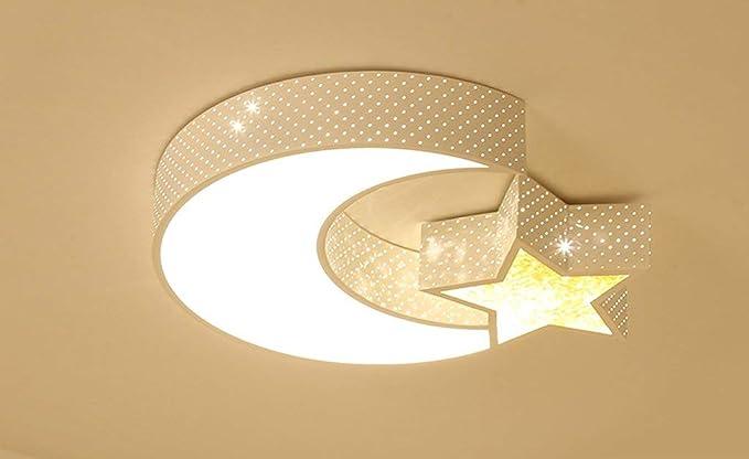 Moderna sencillez creativa luna estrella LED lámpara de ...