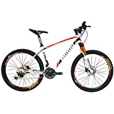 BEIOU® Carbon Fiber Mountain Bike Hardtail MTB SHIMANO M610 DEORE 30 Speed Ultralight 10.65 kg RT 26 Professional Internal Cable Routing Toray T800 Carbon Hubs Glossy CB018B117X