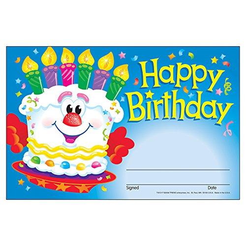 TREND enterprises, Inc. Happy Birthday Cake Recognition Awards, 30 ct