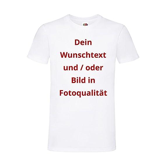 c8b3a3a049654b T-Shirts Bedrucken Lassen - Wunsch Text und Bild Textil Druck Firmen Logo  Geschenk JGA Party Schule A3  Amazon.de  Bekleidung
