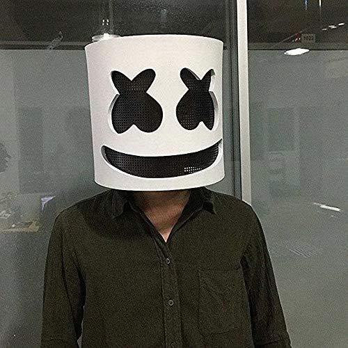 Elevin(TM)  Latex DJ Latex DJ Mask Helmet Halloween Costumes for Unisex Adult Party Cosplay ()
