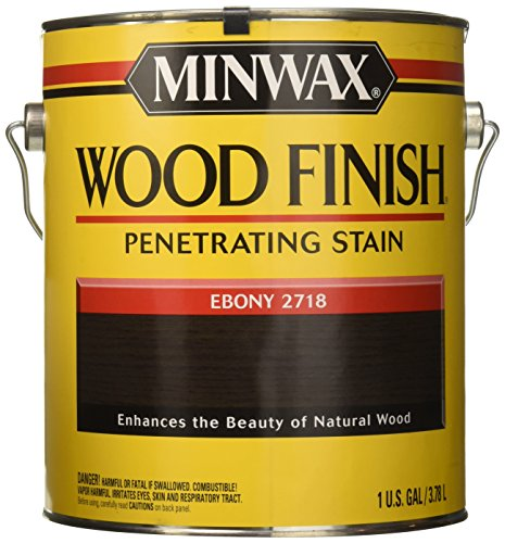 Buy Ebony Wood (Minwax 710130000 Wood Finish Penetrating Stain, gallon, Ebony)
