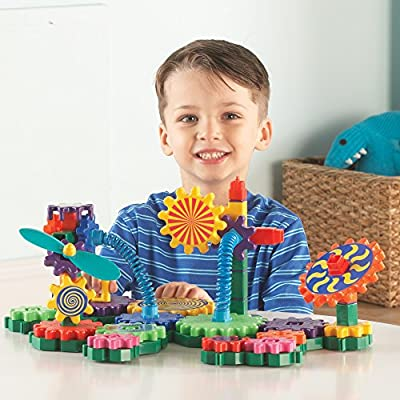 Learning Resources Gears! Gears! Gears! Gizmos Building Set, Construction Toy, STEM Learning Toy, 83 Pieces, Ages 3+: Toys & Games