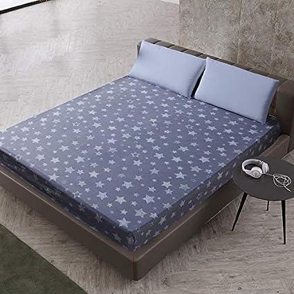 SUYUN Protector de colchón - Microfibra - Antiácaros - Transpirable - Funda para colchon,Poliéster impresión Starlight 150X200cmX25cm