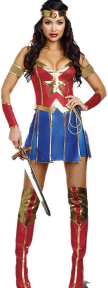 LBFKJ Disfraz de Guerrero de Uniforme de Cosplay de Superwoman de ...