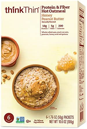 thinkThin Protein Oatmeal Peanut Packets product image
