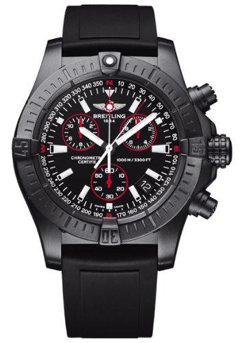 Breitling Aeromarine Avenger Seawolf Chrono Blacksteel Mens Watch M7339010/BA03