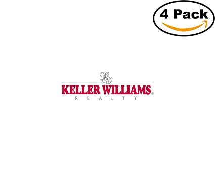 Keller williams 4 stickers 4x4 inches car bumper window sticker decal