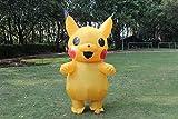 Kooy Adult Yellow Sparky Inflatable Costume Cosplay Halloween