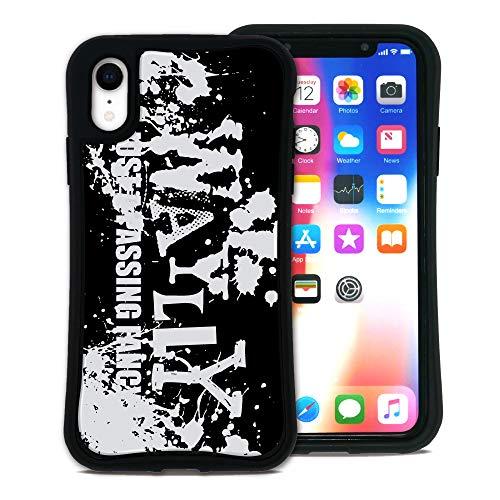 WAYLLY(ウェイリー) iPhone XR ケース アイフォンXRケース くっつくケース 着せ替え 耐衝撃 Qi対応 米軍MIL規格 [ストリート ペイント] MK