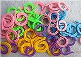 Knitting Stitch Counter - LeBeila Split Stitch Marker Rings Multi-Colored Crochet Stitch Markers Clip (60, Mixed)
